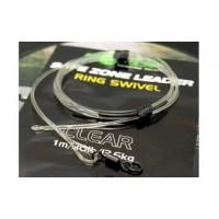 Kamo Leader Ring Swivel 40lb Clear