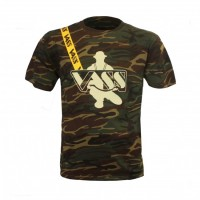 Vass Classic Printed Camouflage T-Shirt inc. Yellow strap