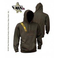 Vass Embroidered Hoody 'Khaki Edition' with yellow print brace